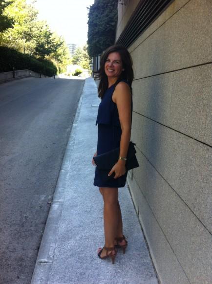 Vestido Azul Marino Workingoutfits