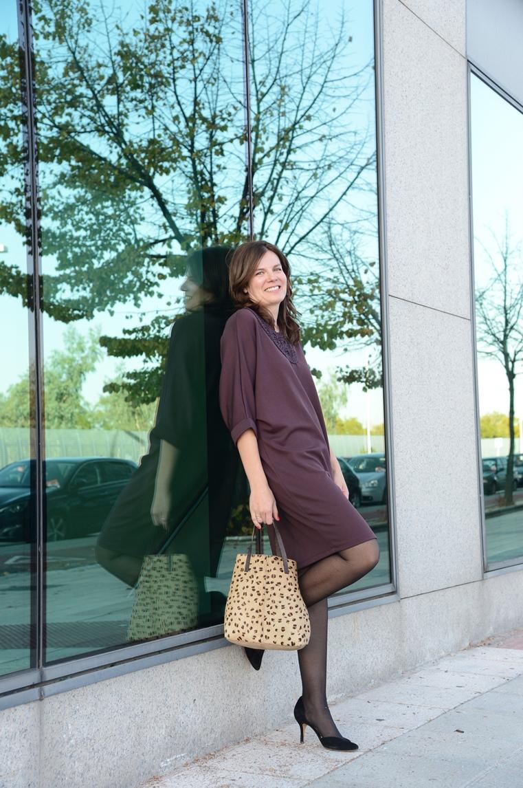 Vestido en morado y un toque print