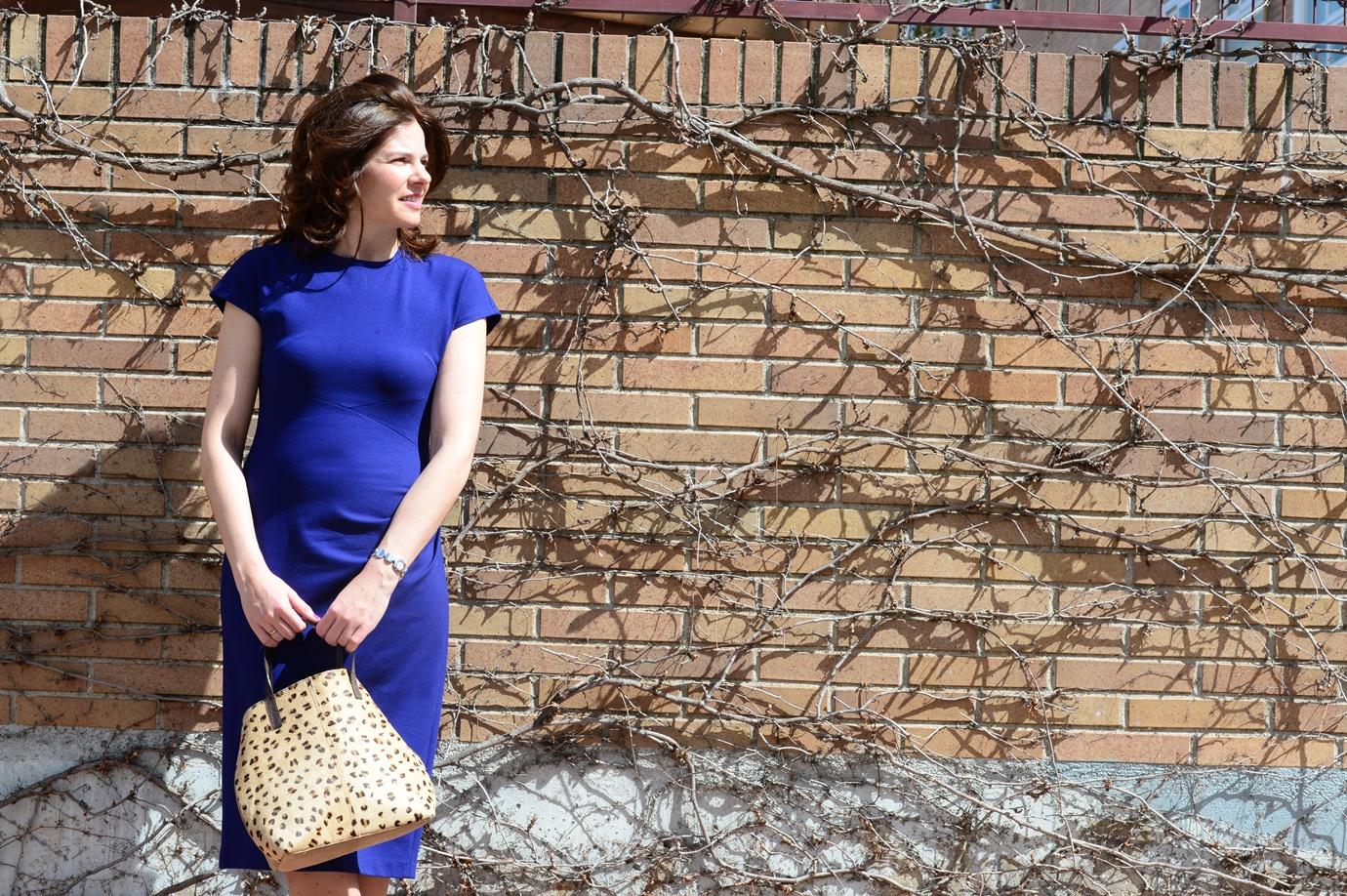 Vestido en azul Klein