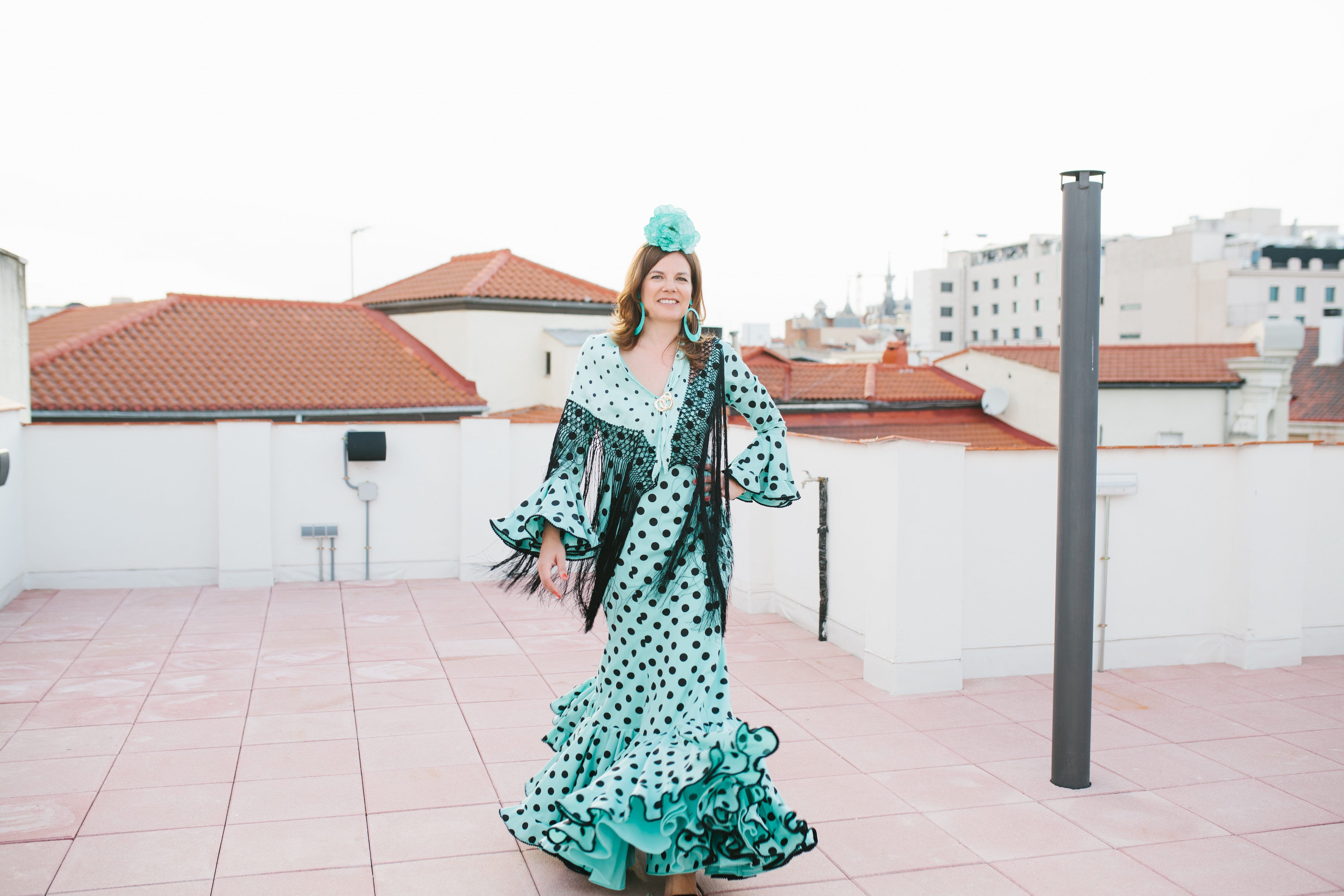 Vestida para la Feria de Abril