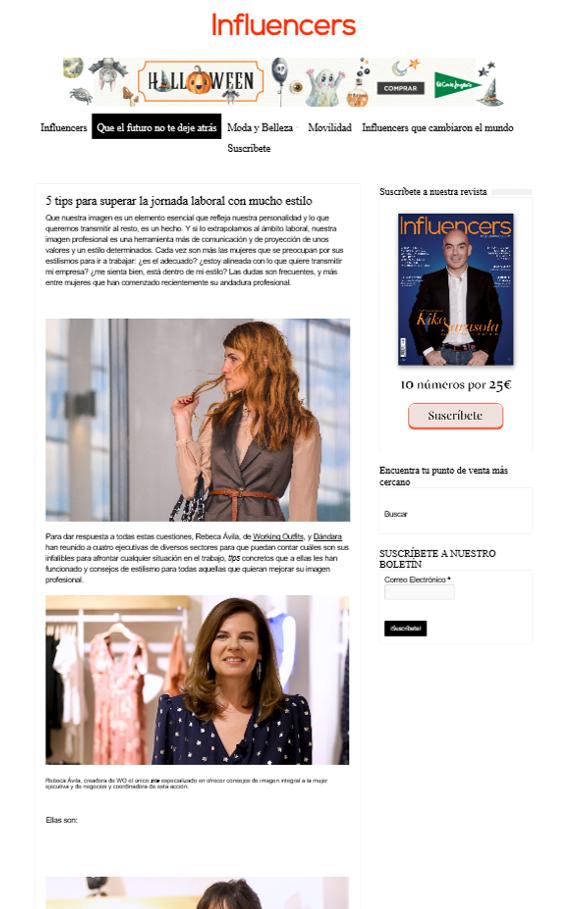 Revista Influencers: Tips para superar la jornada laboral con mucho estilo