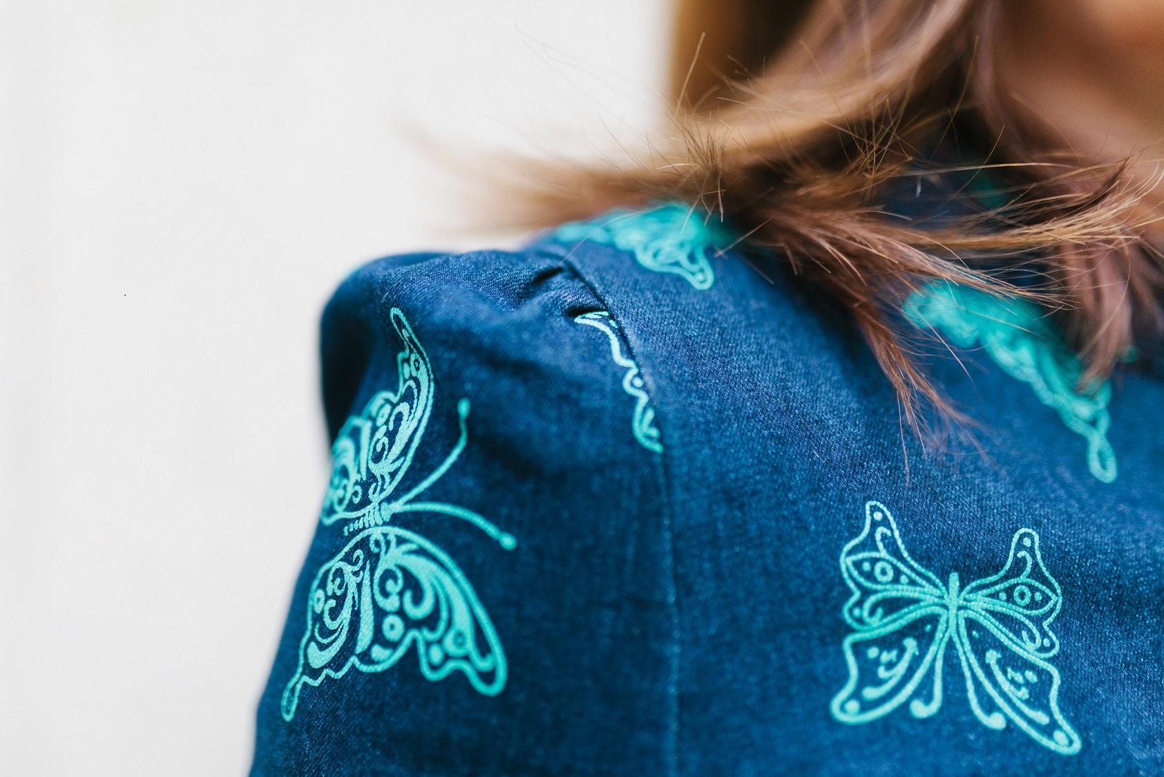 Un vestido en tejido jean muy primaveral